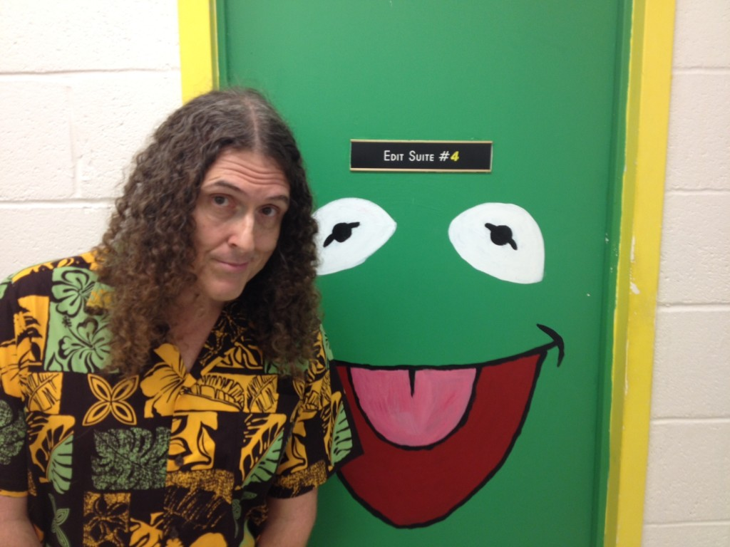 Weird Al with Kermit Door