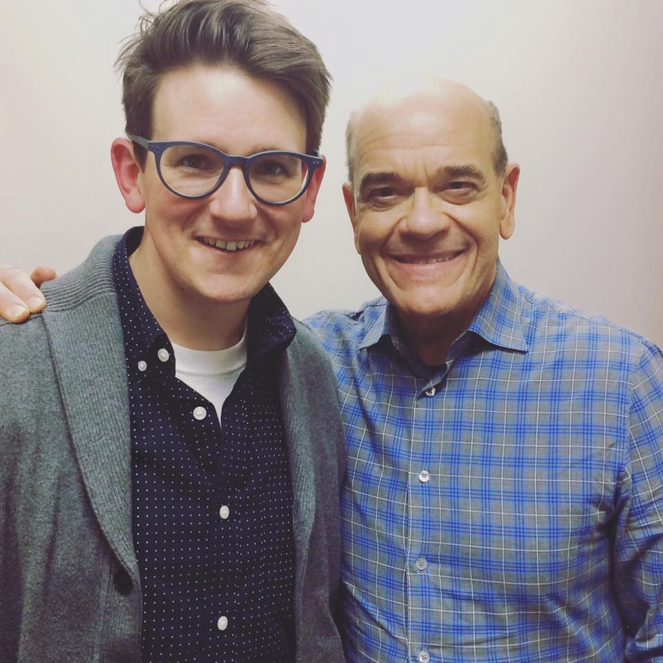 Lucas Ross with Robert Picardo